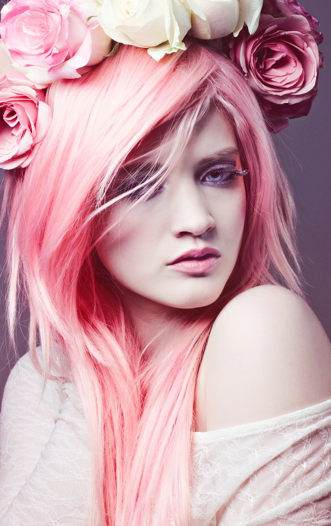 Coronite flori roz