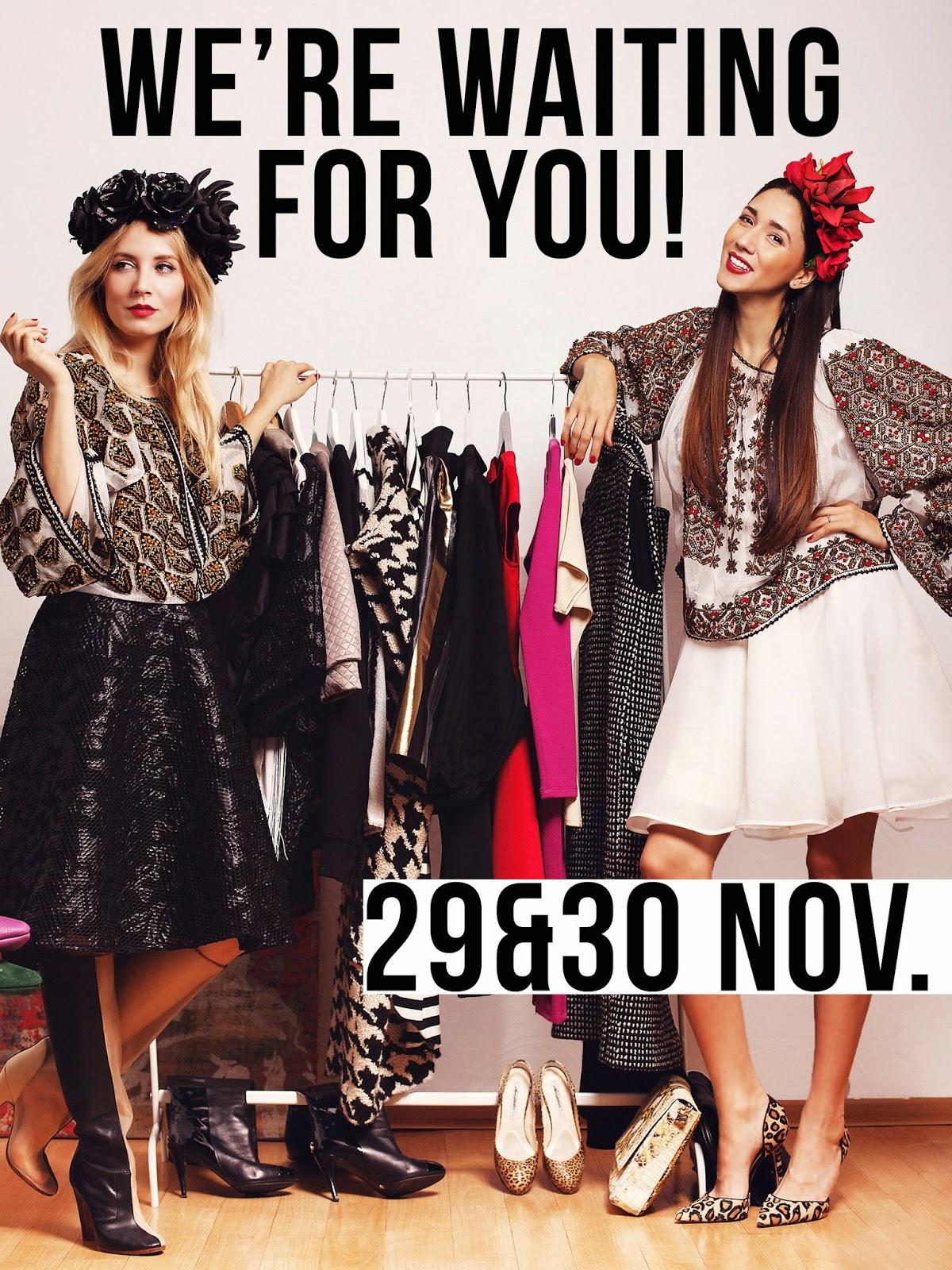 Diana Enciu& Alina Tanasa_ Absolutely Fabulous Fashion Fair_targ moda_targ craciun (10 (1)