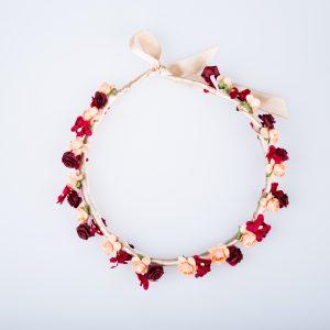 coronite flori rosii