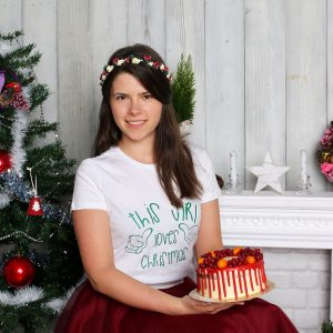 Tricou alb_personalizat_THIS GIRL LOVES CHRISTMAS