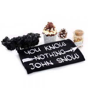 Tricou negru_YOU KNOW NOTHING JOHN SNOW