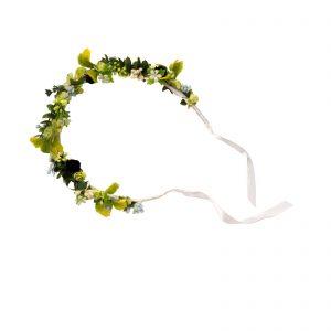 Coronota-flori-verzi-frunze