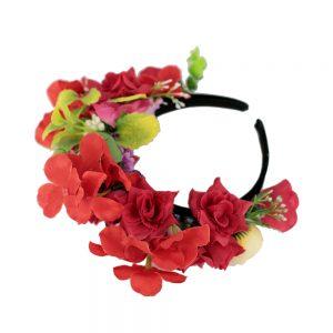 Coronita flori rosii_fata_Floronite
