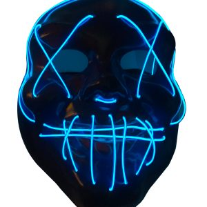 Masca_Halloween_lumini aprinse albastru