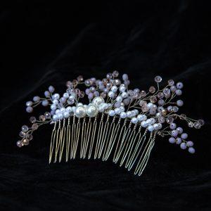 4.AURORA_Pieptene par_mireasa_perle albe si pietre roz
