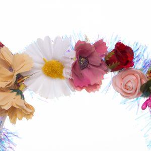 Coronita copii cu flori si urechi