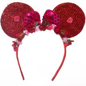 Coronita urechi rosii si flori