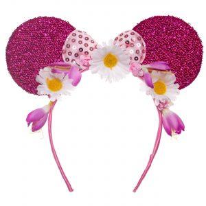 Coronita urechi roz si flori