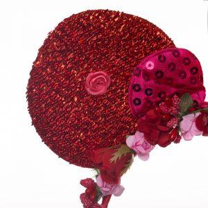 Coronita urechi si flori rosii